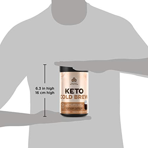 Ancient Nutrition KetoCOLDBREW Energy Elixir Powder, 20 Servings, Keto Diet Supplement, MCTs from Coconut, Coffee Beans, Energy Booster 8
