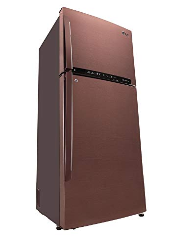 31vv0ve%2BmOL LG 437 L 3 Star LG ThinQ(Wi-Fi) Inverter Linear Frost-Free Double-Door Refrigerator (GL-T432FASN, Amber Steel, Convertible)