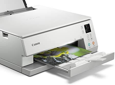Canon TS6320 All-In-One Wireless Color Printer with Copier, Scanner and Mobile Printing, White, Works with Alexa