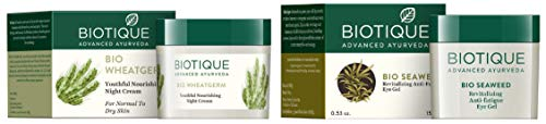 31wfCeY2nWL - Biotique Bio Wheat Germ FIRMING FACE and BODY NIGHT CREAM For Normal To Dry Skin, 50G And Biotique Bio Seaweed Revitalizing Anti Fatigue Eye Gel, 15g