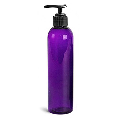 Royal Massage Empty Massage Oil Bottle with Pump, 8 Ounce , Purple