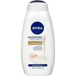 NIVEA Nourishing Botanical Blossom Body Wash – with Nourishing Serum – 20 Fl. Oz. Bottle