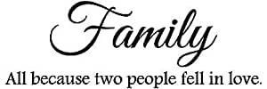 Download Family all because two people fell in love vinyl wall ...