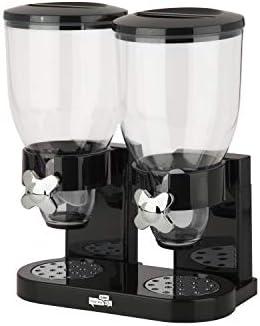 Zevro /GAT200 Indispensable Dry Food Dispenser, Dual Control, Black/Chrome