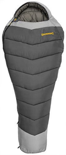 Browning Camping Denali -30 Degree Mummy Sleeping Bag, Grey