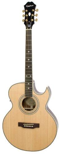 Epiphone PR5-E Thin-Body Acoustic/Electric Guitar, Florentine Cutaway