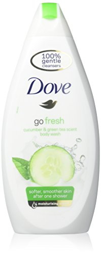 Dove Go Fresh Cool Moisture Fresh Touch Body Wash Cucumber and Green Tea 16.9 Oz / 500 Ml (Pack of 3)