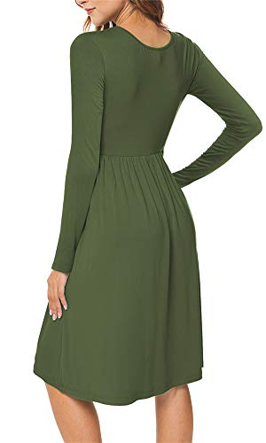 Long Sleeve Dresses Empire Waist Loose Dress