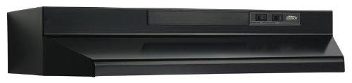 Broan F403023 Two-Speed Four-Way Convertible Range Hood, 30-Inch, Black