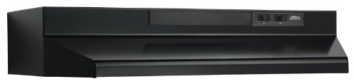 Broan F403023 Two-Speed Four-Way Convertible Range Hood, 30-Inch, Black