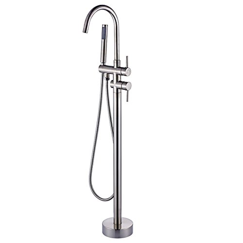 Fapully Luxury Bathroom Free Standing Bathtub Faucet Tub Filler With