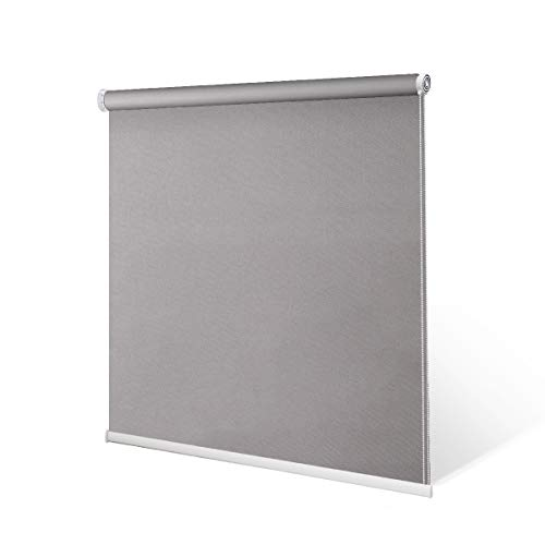 "SCHRLING No Drill Daylight Roller Shade Tension Inside Mount Expansion Window Blind,Custom Size:20""-90""W,20""-98""L"