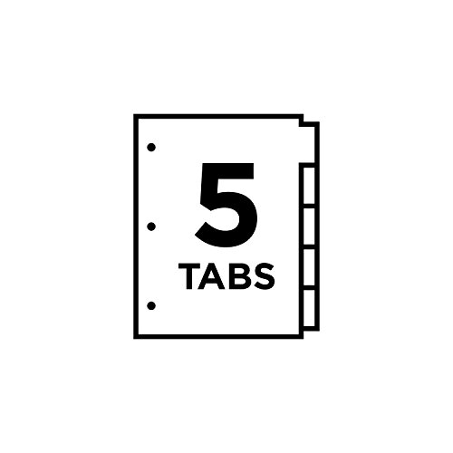 Avery Big Tab Insertable Dividers 5 Clear Tabs 1 Set 11122