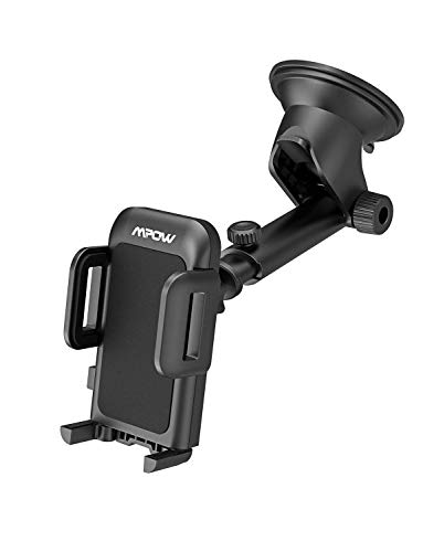 Mpow Upgrade Dashboard Car Phone Mount,Adjustable Windshield Holder Cradle with Strong Sticky Gel Pad Compatible iPhone Xs MAX/XS/XR/X/8/8Plus/7/7Plus/6s/6P/5S, Galaxy S6/S7/S8/S9, Google, Huawei etc