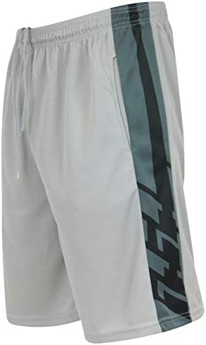 Real Essentials Men's Active Athletic Performance Shorts with Pockets - 5 Pack 4