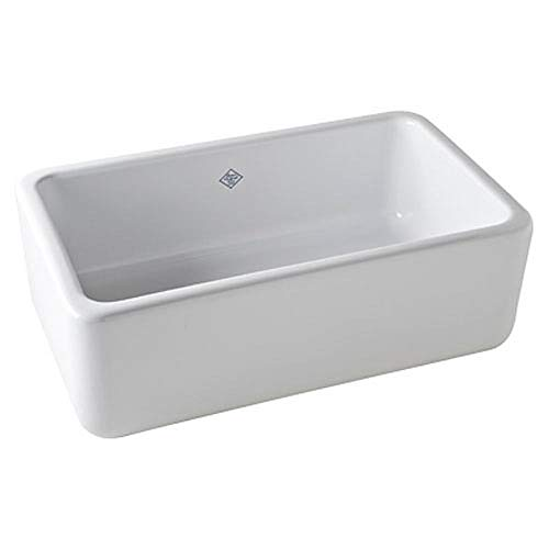 Rohl RC3018WH FIRECLAY KITCHEN SINKS, 30-Inch by 18-Inch by 10-Inch,...