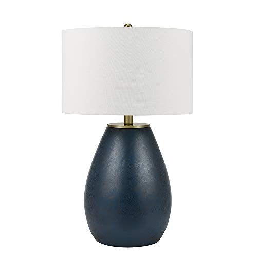 Catalina-Lighting-21751-001-Mid-Century-Modern-Gourd-Table-Lamp-with-Brass-Accents-30-Navy-Blue
