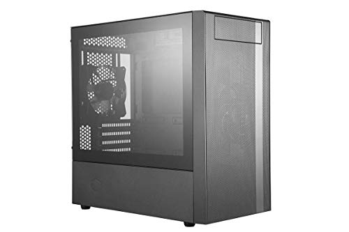 Cooler Master MasterBox NR400 w/Front Mesh Ventilation, Minimal Design, Tempered Glass Side Panel and Single Headset Jack