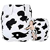Kawaii Baby Good Night Heavy Wetter One Size Pocket Cloth Diaper with 2 Large Microfiber Inserts ' Cow '