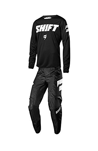 Shift Racing 2018 White Label Ninety Seven Combo Black Jersey Pants Riding Gear Dirtbike MX ATV Offroad Adult Mens