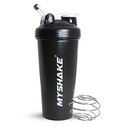 Myshake Classic Protein Shaker Bottle for Gym with Silicon Flip 600 ml - (Black) 1  Myshake Classic Protein Shaker Bottle for Gym with Silicon Flip 600 ml – (Black) 31zeVoI799L