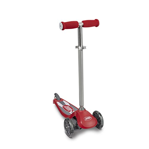 Radio Flyer Lean 'N Glide Scooter with Light Up Wheels Vehicle, Red
