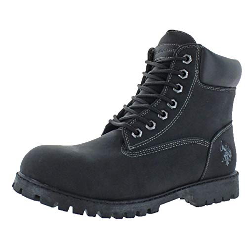 U.S. Polo Assn. Owen High Men's Faux Nubuck Ankle Boots Black Size 8.5
