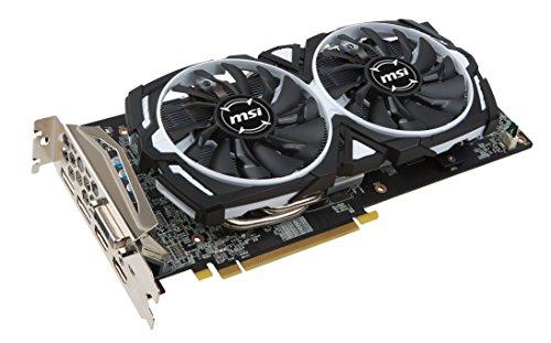 MSI Radeon RX 580 Armor OC 8GB VR Ready FinFET DirectX 12 Gaming Graphics Card 9