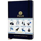 Ifocus Productivity Planner undated for Entrepreneurs! Project notebook for business! 2019 best daily weekly self organizer planner! Beat procrastination! 90 day business journal