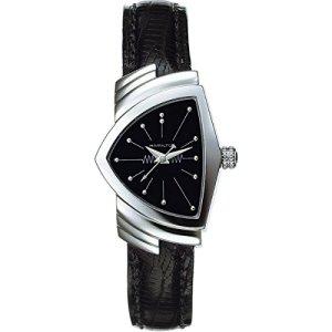 Hamilton Women's H24211732 Ventura Analog Display Quartz Black Watch