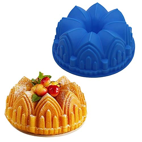 Moule a gateau baking pan large crown-shaped silicone cake mold 3D birthday cake decoration DIY bakery cake pan bakeware