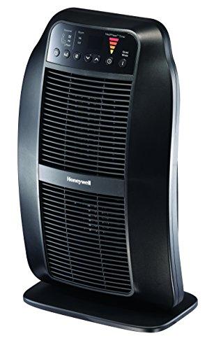 Honeywell HCE840B HeatGenius Ceramic Heater Black Energy Efficient 1500 Watt Custom Comfort with 6 Heat Settings, Quiet Mode & Auto-Off Heat Phase Timer for Home, School or Office