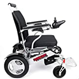 Porto Mobility Ranger D09, No.1 Best Rated Exclusive Portable Power Wheelchair, Lightweight, Foldable, Heavy Duty, Dual Battery, Dual Motor Electric Wheelchair - 18.5' Seat Width (Free Travel Case)
