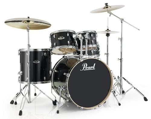 Pearl Export EXL Standard 5-Piece Lacquer Shell Pack - Black Smoke