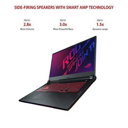 "ASUS ROG Strix G G731GT-H7158T 17.3"" FHD 120Hz Gaming Laptop GTX 1650 4GB Graphics (Core i7-9750H 9th Gen/16GB RAM/1TB NVMe SSD/Windows 10/One-Zone RGB KB/2.85 Kg), Black 10"