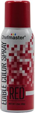 CHEFMASTER EDIBLE SPRAY CAKE DECORATING COLOR 1.5OZ CAN – RED
