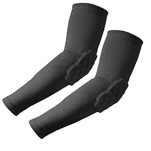CROSS1946 Elastic Sport Basketball Shooter Arms Sleeve Crashproof Honeycomb Elbow Support Pads - Elbow Protector Guard M2