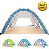 Venustas Large Pop Up Beach Tent Automatic Sun Shelter Cabana Easy Set Up Light Weight Camping Fishing Tents 4 Person Anti-UV Portable Sunshade for Family Adults