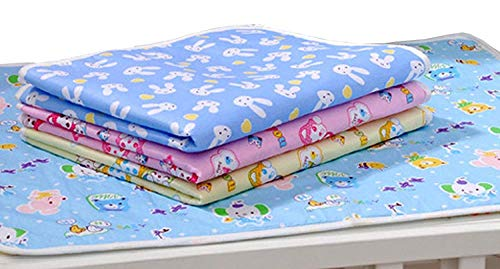 41%2BNGqJzTKL Fareto Nappy Altering Mat/Sleeping mats/Water Proof Mattress Protector with Foam Cushioned for New Born Child four Sheets (0-Three Months)(Measurement: L-21Inchs, B-17Inchs)