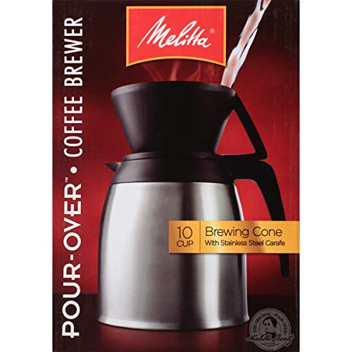 Melitta (64104) Pour-Over 10 Cup Coffee Brewer w/Stainless Steel Thermal Carafe