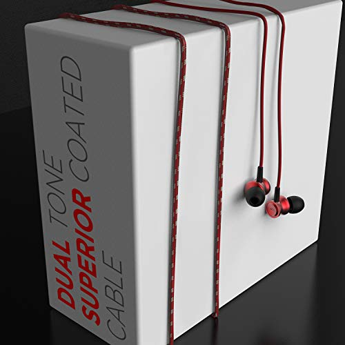 boAt BassHeads 152 Wired Earphones with Super Extra Bass, Durable Cable, Built-in Mic, Metallic Earbuds(Raging Red) 5