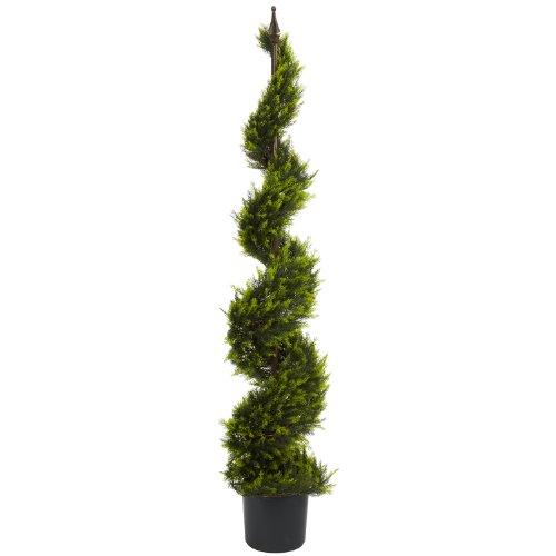 Nearly Natural 5325 Cypress Spiral Tree, 5-Feet, Green