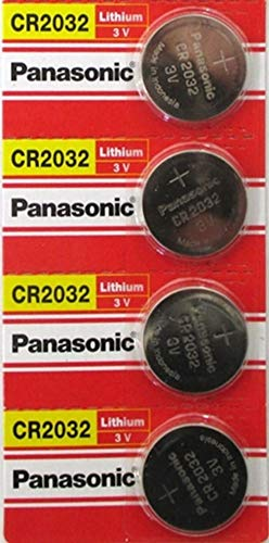 (4pcs PLUS ONE FREE BATTERY) PANASONIC Cr2032 3v Lithium Coin Cell Battery for Misfit Shine Sh0az Personal Physical Activity Monitor by A World of Deals