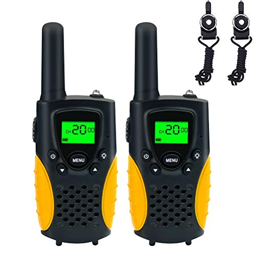 FAYOGOO Kids Walkie Talkies, 22-Channel FRS/GMRS Radio, 4-Mile Range Two Way Radios with Flashlight and LCD Screen, and Toys for 3-12 Year Old Boys and Girls
