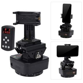 Bindpo-360-Degree-Rotating-Panoramic-Electric-Ball-Head-with-Phone-Clamp-Remote-Control-with-14-inch-Screw-Universal-Quick-Release-Plate-for-Camera-Tripod-Cellphone