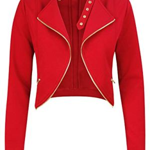 Michel Womens Fleece Jacket Classic Crop Rider Zip UP Jacket 16 Fashion Online Shop Gifts for her Gifts for him womens full figure