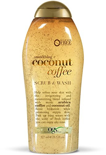 OGX Coconut Coffee Scrub and Wash, 19.5oz