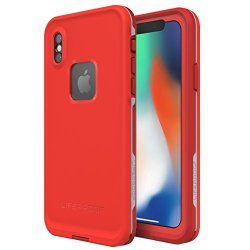 LifeProof FRE SERIES Waterproof Case for iPhone X - Fire Run (Cherry Tomato/Sleet/Molten Lava)