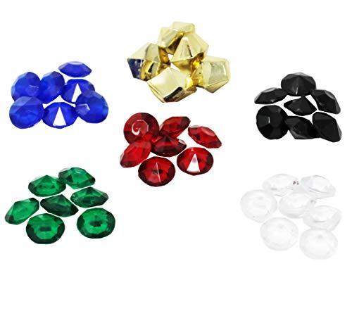 Travel Gems Compatible with Splendor Board Game, 40 Gemstones Total