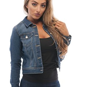 Hollywood Star Fashion Womens Basic Button Down Denim Jean Jacket 6 🛒 Fashion Online Shop gifts for her gifts for him womens full figure